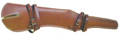"Leather Scabbart 37"" Length, Scope Ready"