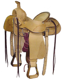 Rancher Saddle With Oiled Leather
