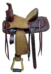 Half-Breed Dark Oil Rancher Saddle (Youth)