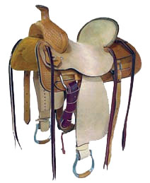 "Rancher Saddle With 5"" Cantle"