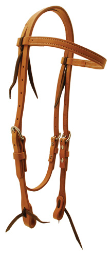 Harness Leather Browband Headstall single ply