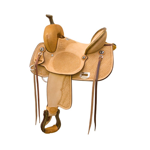 Connie Combs Comanche Highback Barrel Racing/Ranch Saddle - ACTION COMPANY 2912285