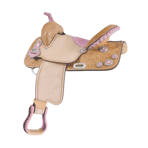 Connie Combs Ostrich Cow Barrel Racing/Show Saddle - ACTION COMPANY 2942025