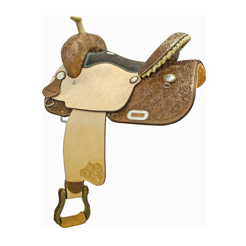 Connie Combs Prime Time Barrel Racing Saddle - ACTION COMPANY 2912335CC