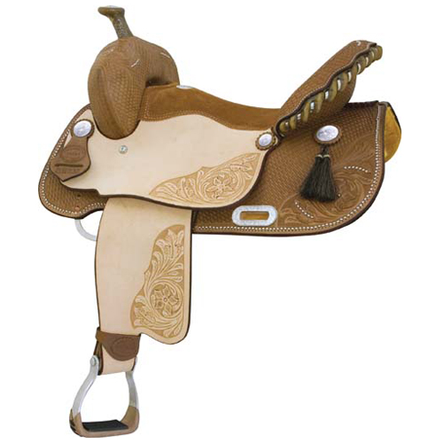 Connie Combs Running on Luck Barrel Racing/Show Saddle - ACTION COMPANY 291-207-4/6